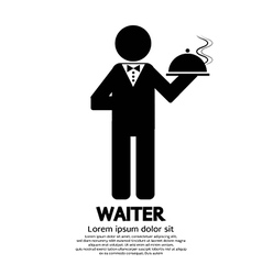 Waiter vector image