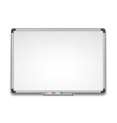 whiteboard marker white school board realistic vector image