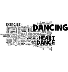 why dance lessons are good for your heart text vector image