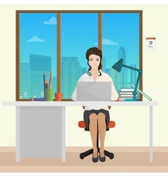 Woman Secretary office manager in office interior vector