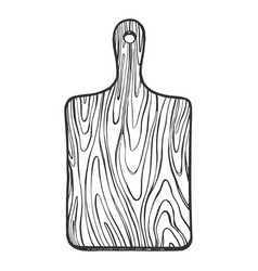 wooden cutting board sketch engraving vector image