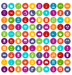 100 cleaning icons set color vector image vector image