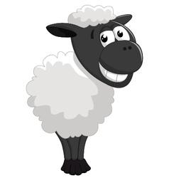 Cartoon sheep posing vector image vector image