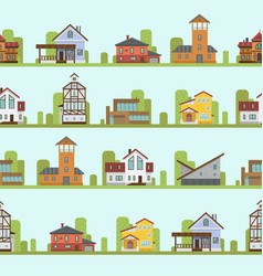 different city town buildings street view vector image