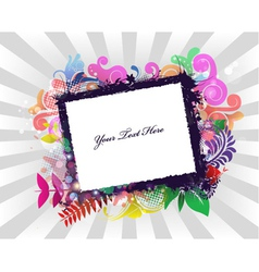 grunge frame with rays background vector image vector image