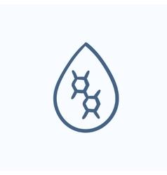 Oil drop sketch icon vector image