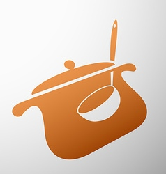 pan with a ladle vector image