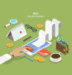 bills online payment flat isometric concept vector image