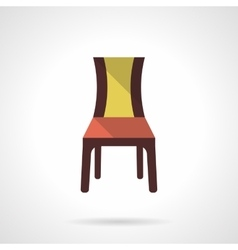 Furniture for restaurant flat color icon vector image vector image