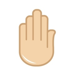 hand gesture icon Sign language vector image vector image