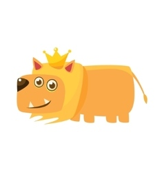 Lion Wearing The Crown vector image