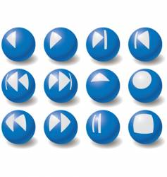 set of multimedia navigation symbols vector image vector image