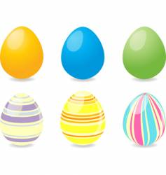 six Easter eggs vector image vector image
