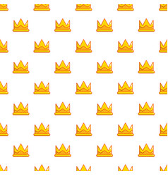 son of king crown pattern seamless vector image vector image