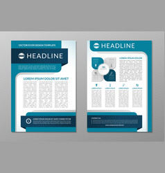Business brochure flyer layout template A4 size vector image vector image