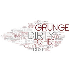 Dirty word cloud concept vector