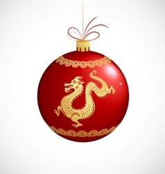year of dragon vector image