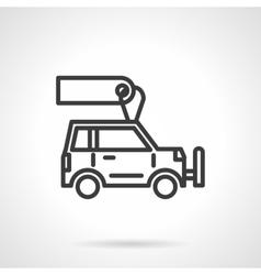 Car store black line design icon vector image vector image