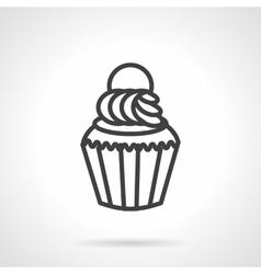 Cupcake simple line icon vector image