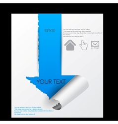 paper sheet torn paper vector image vector image