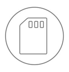 Sim card line icon vector image