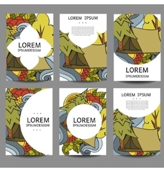 abstract brochures Recreation Tourism and vector image