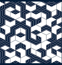 Abstract geometric pattern with blue lines vector