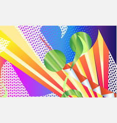 abstract green apple background sunrise the vector image