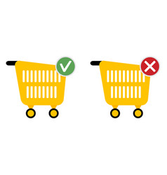 add or cancel purchase web icons for store vector image