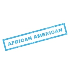 African American Rubber Stamp vector image