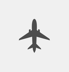 airplane icon on white vector image
