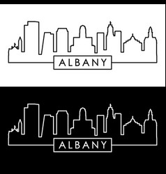 albany skyline linear style editable file vector image