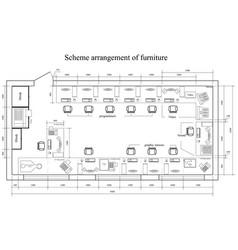 Architectural scheme arrangement furniture vector