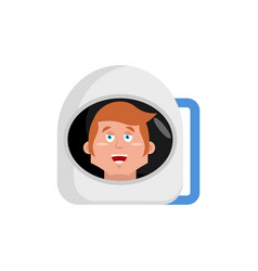 astronaut happy emoji cosmonaut merry emotion vector image