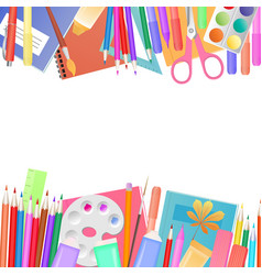 back to school concept a set of subjects for vector image