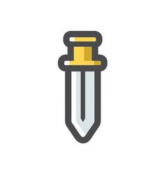 battle gold sword icon cartoon vector image