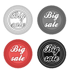 Big sale icon in cartoon style isolated on white vector