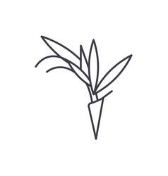 bird of paradise flower line icon concept bird of vector image