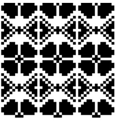 black and white large scale seamless vector image