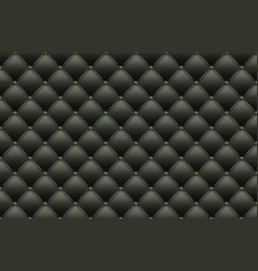 Black texture leather quilted skin vector