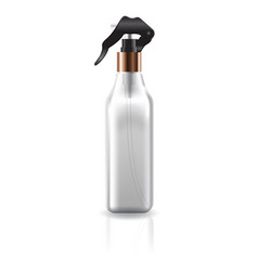 Blank clear cosmetic square bottle with spray head vector