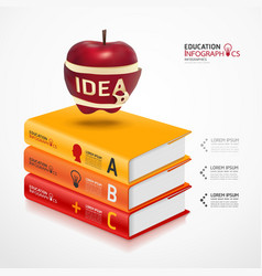 books info graphic vector image