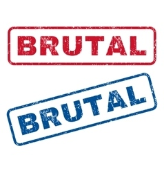 Brutal Rubber Stamps vector