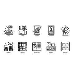 business icons set 5 vector image