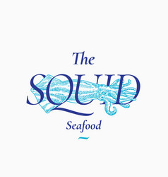 Calamary seafood abstract sign symbol or vector