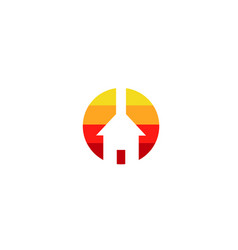 circle power logo vector image