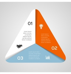 circle triangle infographic Template for vector image