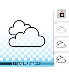 Cloud simple black line icon vector
