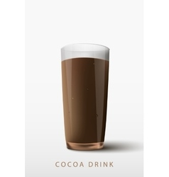 Cocoa drink a glass vector