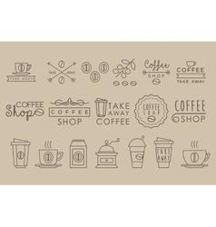 Coffee Set Linear vector image